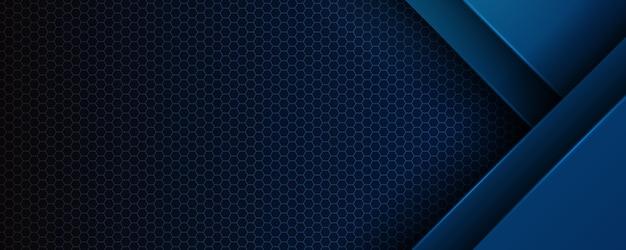 Абстрактный темно-синий металлический фон.