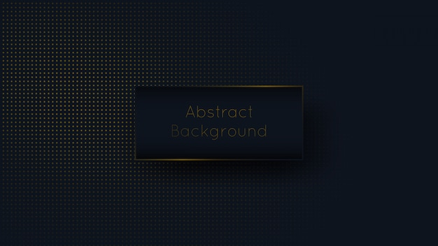 Abstract dark blue navy and golden dot luxury background