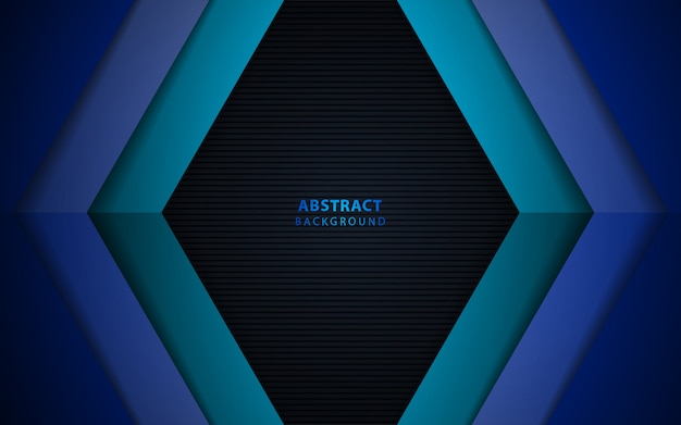 Abstract dark blue paper overlap background