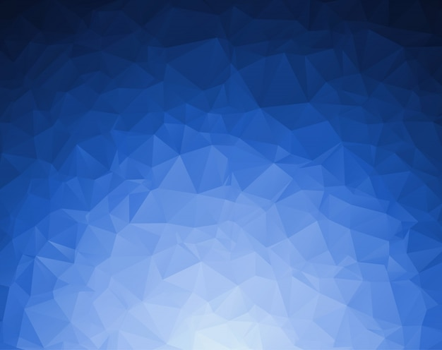 Abstract dark blue polygonal illustration, which consist of triangles.