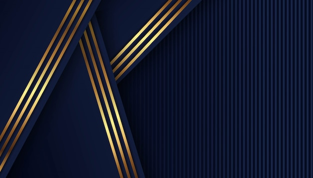 Abstract dark blue shape with overlap background