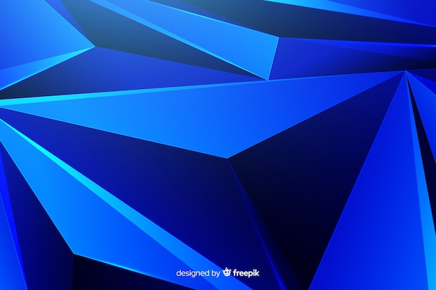 Abstract dark blue shapes background