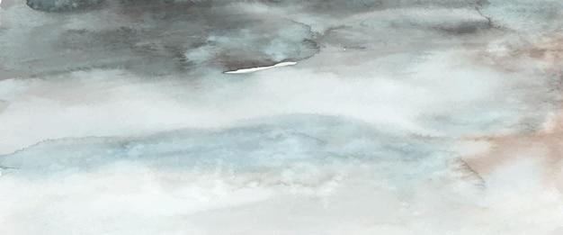 Абстрактная темно-синяя акварель ручная роспись для фона. художественный вектор пятен используется как элемент декоративного оформления заголовка, плаката, открытки, обложки или баннера. кисть включена в файл. Premium векторы