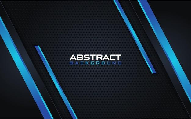 青い線の組み合わせの背景と抽象的なダークブルー