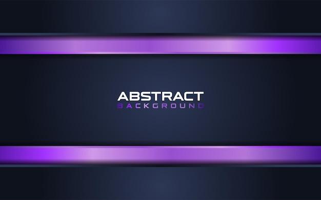 紫色の線の組み合わせの背景と抽象的な濃紺