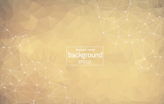 Abstract Dark brown Polygonal Space Background with Connecting Dots and Lines.