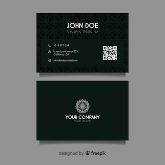 Abstract dark business card template