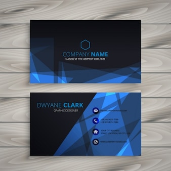 Abstract dark business card Free Vector