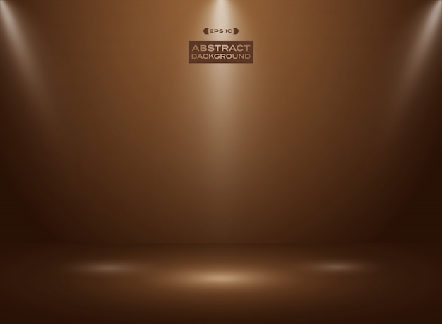 Abstract of dark chocolate color in studio room background