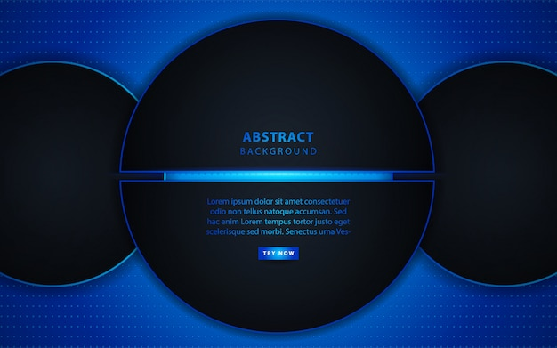 Abstract dark circle with light background