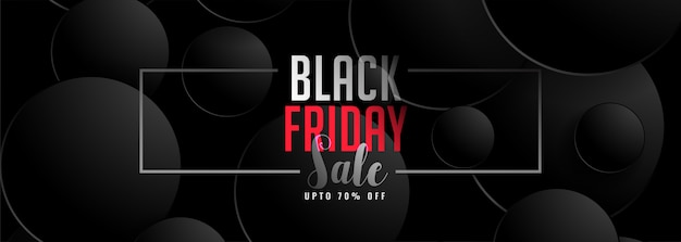 Abstract dark color black friday sale banner template