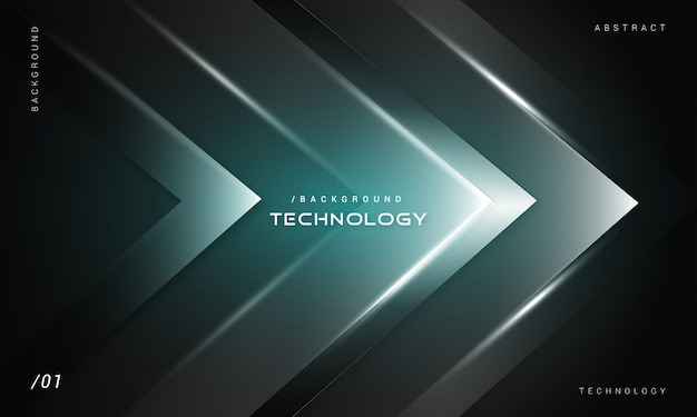 Abstract dark futuristic technology background