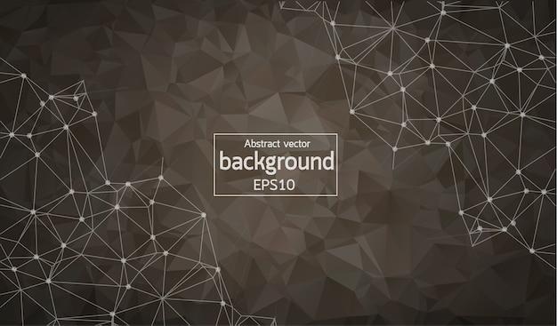 Abstract dark geometric polygonal background
