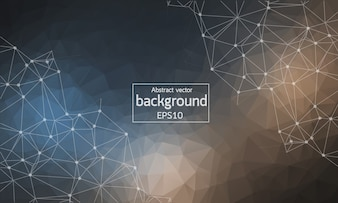 Abstract Dark Geometric Polygonal background
