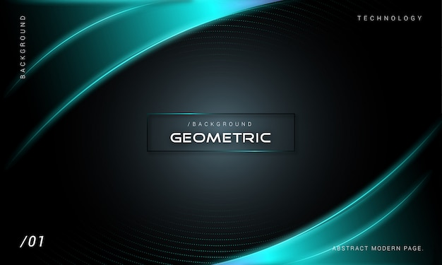 Abstract dark glowing technology background
