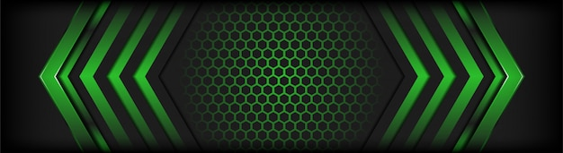 Abstract dark gray background with green lines highlights background