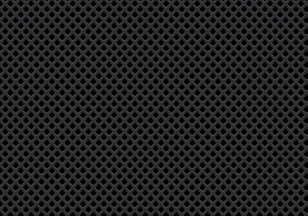Abstract dark gray diamond mesh pattern background