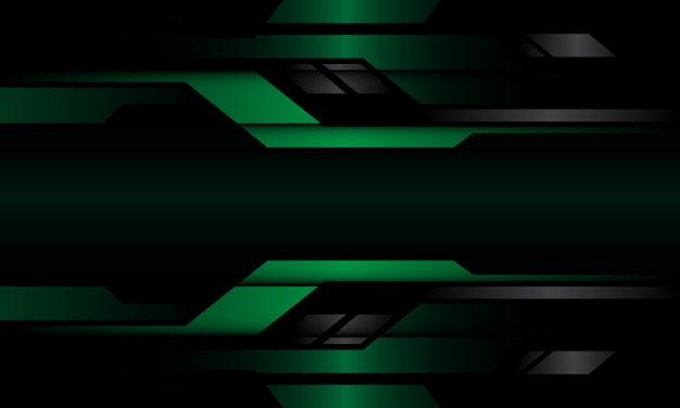 Abstract dark green grey metallic geometric cyber circuit design modern futuristic technology background.