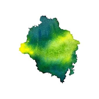 抽象的な濃い緑色の水彩画のスプラッタ