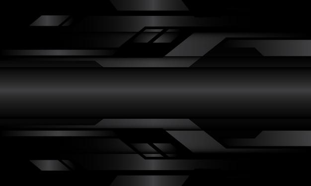 Абстрактный темно-серый металлик геометрические кибер цепи дизайн современный футуристический фон технологии.