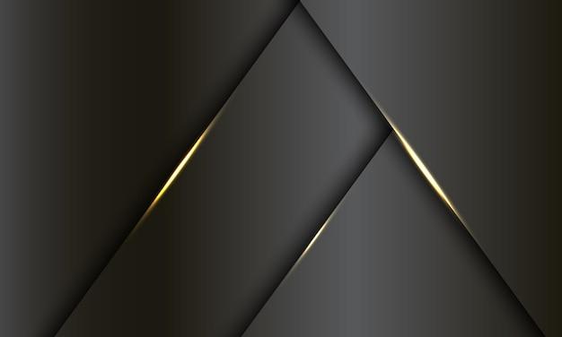 Абстрактный темно-серый металлический золотой светлый роскошный дизайн современный футуристический фон.