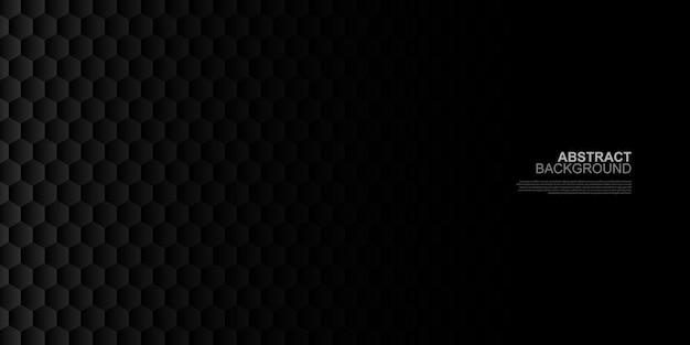 Abstract dark hexagonal shape background vector illustration