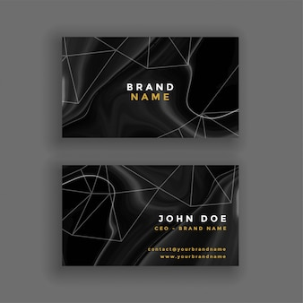 Abstract dark marble texture business card