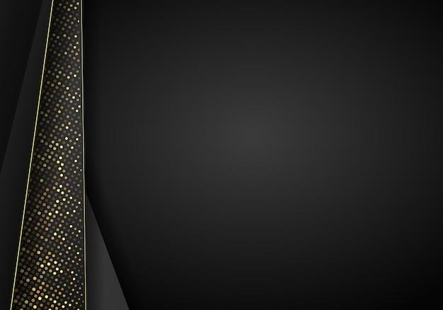 Абстрактный темный металлический фон перекрытия. роскошный абстрактный трехмерный фон с комбинацией светящихся многоугольников в трехмерном стиле. графический дизайн блестит украшением элементов точек.