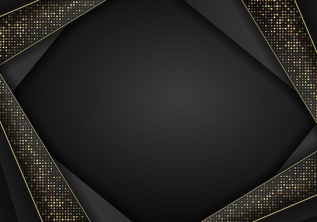 Abstract dark metallic overlap background.