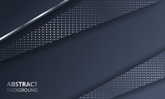 Abstract dark metallic silver frame layout tech background