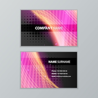 Abstract dark modern business card design template