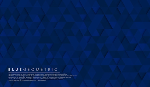 Abstract dark navy blue geometric hexagon shape background.