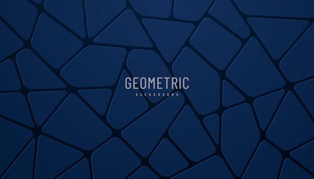 抽象的なダークネイビーブルーボロノイ3dブロック暗い背景モダンで未来的な幾何学的デザイン