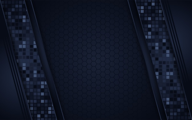 Abstract dark navy square background