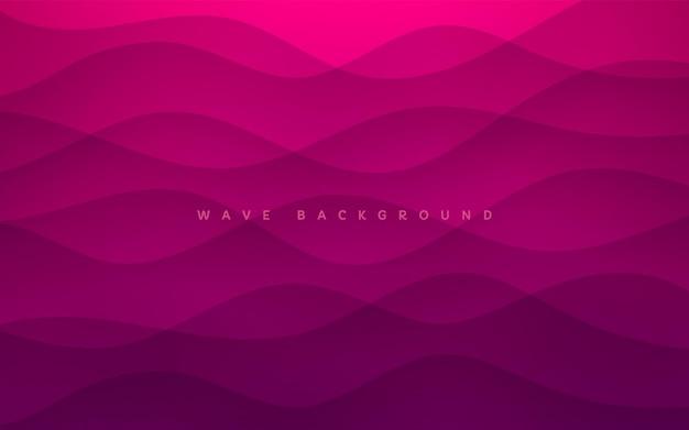 抽象的な濃いピンクと紫のレイヤー波状形状テクスチャ背景