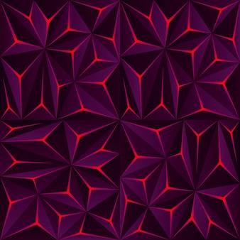 光の効果を持つ抽象的な暗いポリゴンの背景。現代の幾何学的な背景 Premiumベクター