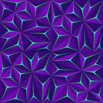 光の効果を持つ抽象的な暗いポリゴンの背景。現代の幾何学的な背景