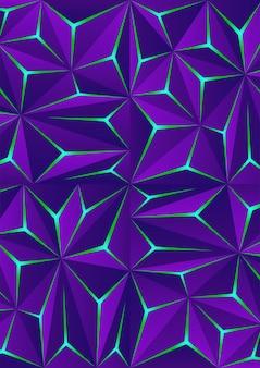 Абстрактный темный фон многоугольника со световым эффектом. современный геометрический фон