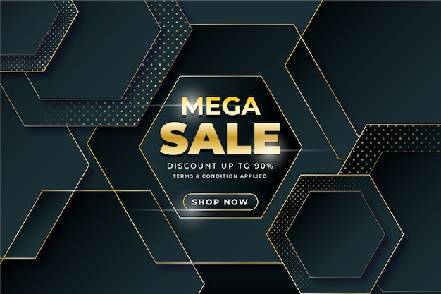 Abstract dark promotional sale background concept