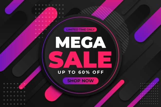Abstract dark promotional sale wallpaper concept