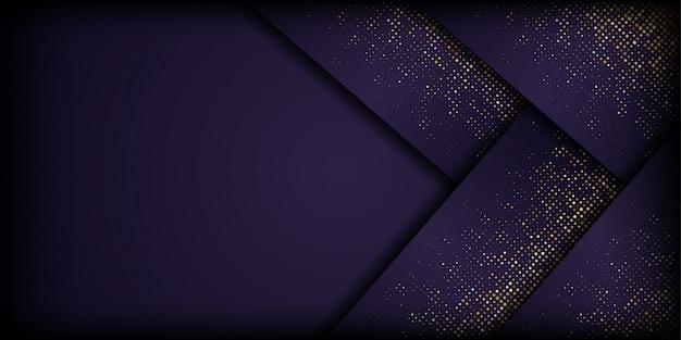 Abstract dark purple background with golden glitter