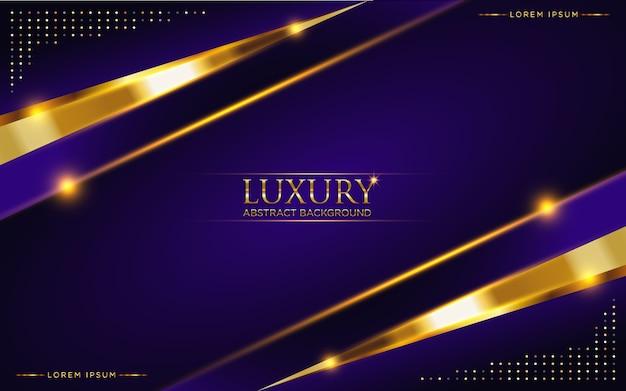 Abstract dark purple luxury background with golden glitter