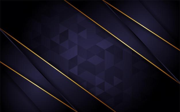 Сочетание абстрактного темно-фиолетовый треугольник текстуры фона с элементом золотой линии