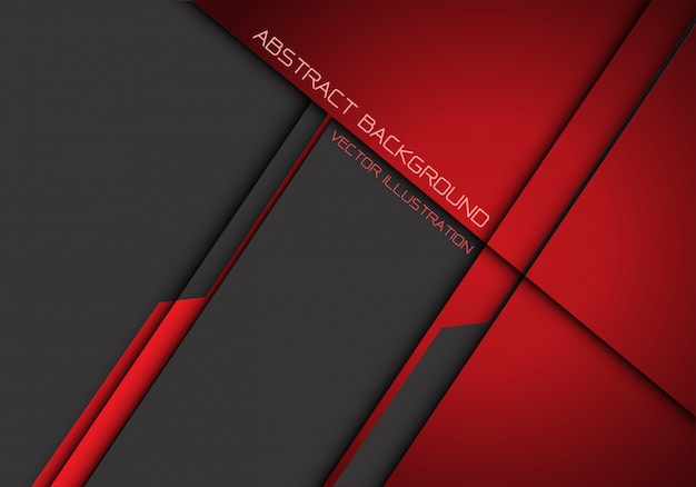 Abstract dark red grey metallic overlap futuristic background