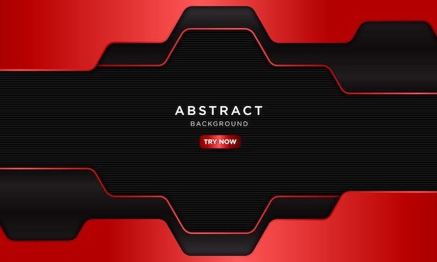 Abstract dark red sport background with hexagon shape.