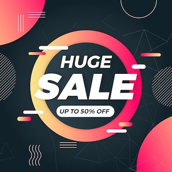 Abstract dark sales banner