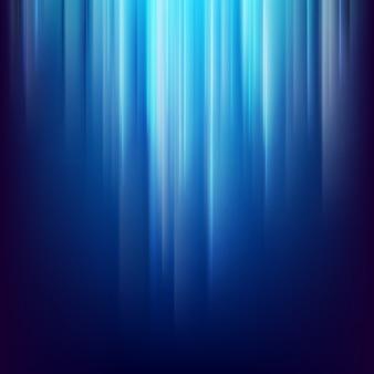 輝く青い光線と暗い空間の背景を抽象化します。