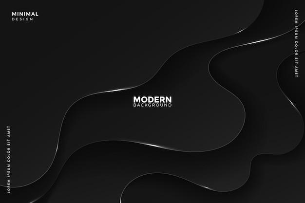 ペーパーカットスタイルの抽象的な暗い波状の背景