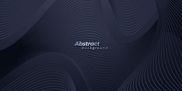 Abstract dark wavy background.