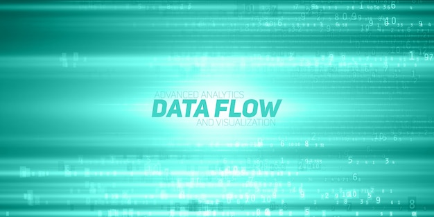 Abstract data flow background